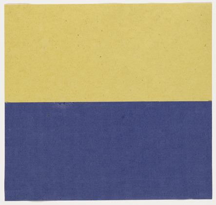 Yellow and Blue, 1951 - Ellsworth Kelly