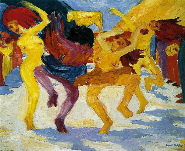 Dance Around the Golden Calf, 1910 - Emil Nolde