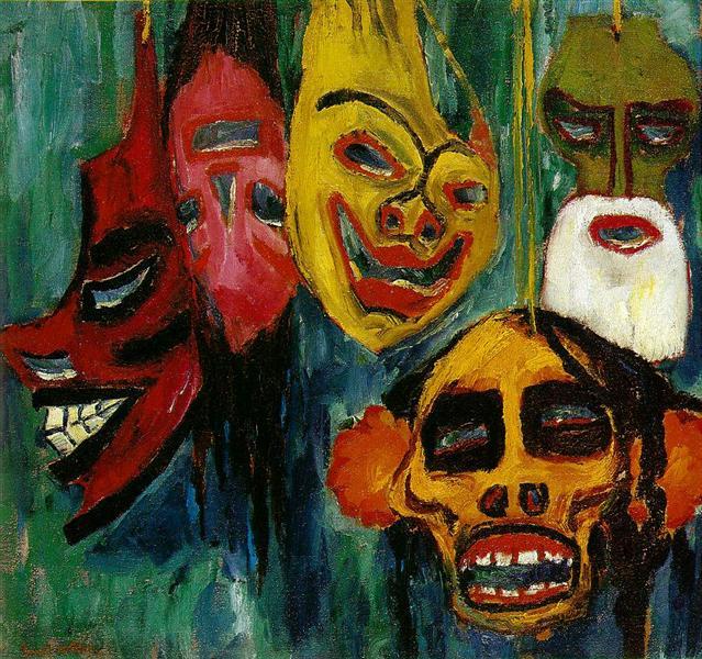Mask Still Life III, 1911 - Эмиль Нольде