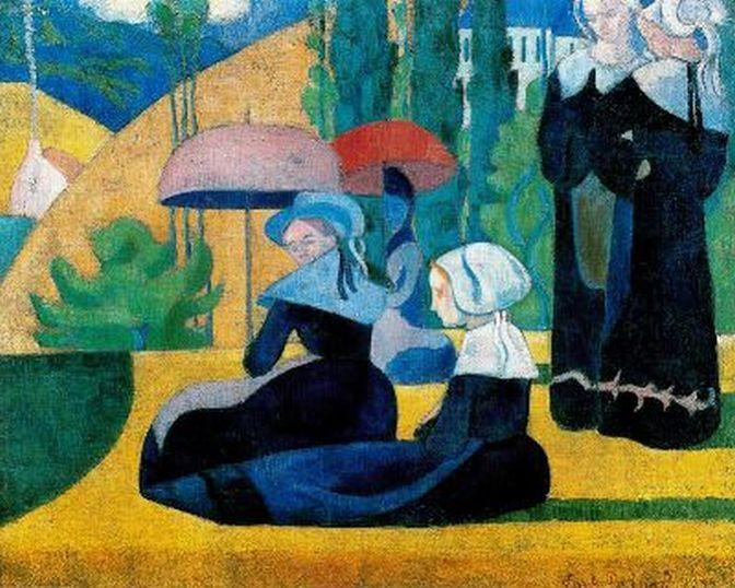 Breton Women with Parasols, 1892 - Emile Bernard