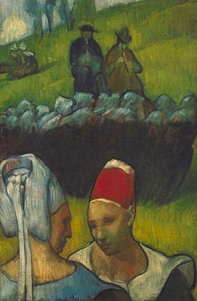 Bretões, 1890 - Émile Bernard