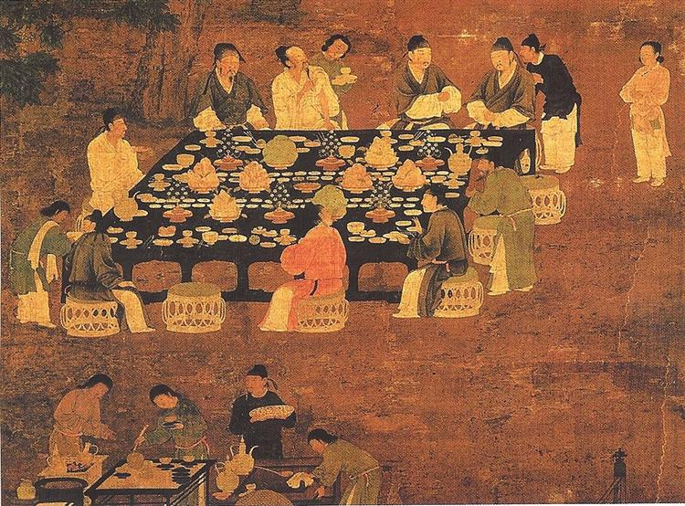 An Elegant Party (detail), c.1100 - Emperor Huizong