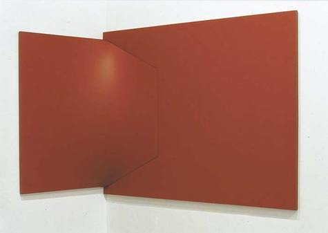 Dittico rosso, 1966 - Enrico Castellani