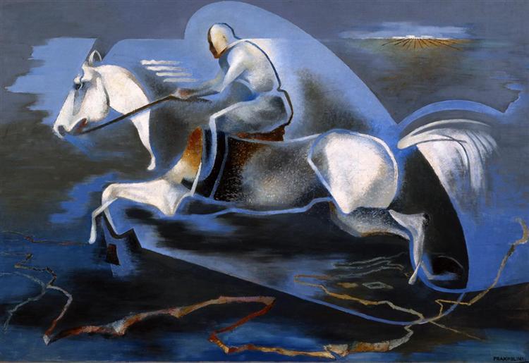 Dinamica dell'azione (Miti dell'azione, Mussolini a cavallo), 1939 - Enrico Prampolini