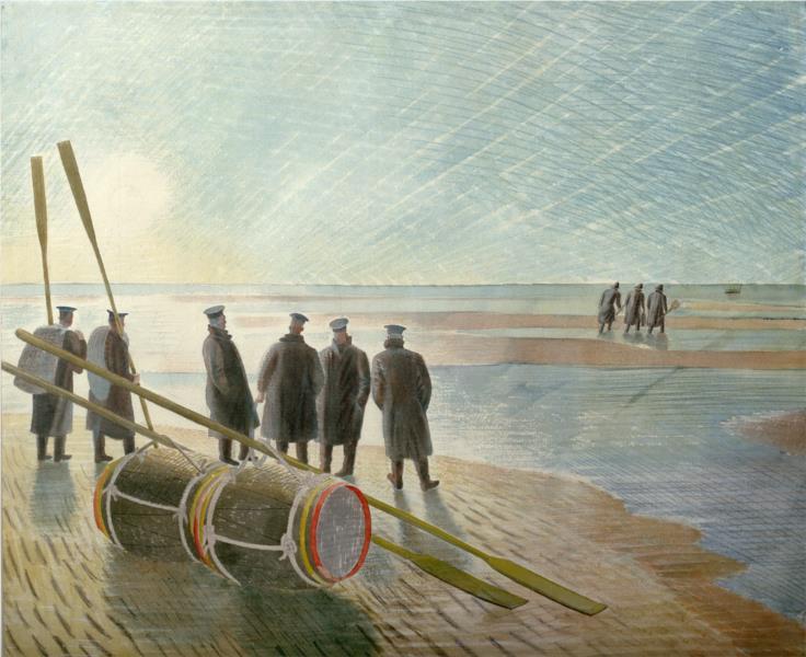 Dangerous work at low tide, 1940 - Eric Ravilious