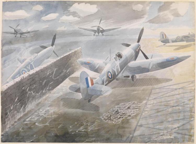 Spitfires at Sawbridgeworth, Herts 1942, 1942 - Eric Ravilious
