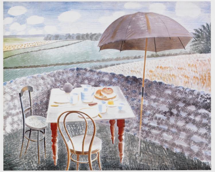 Tea at Furlongs, 1942 - Eric Ravilious