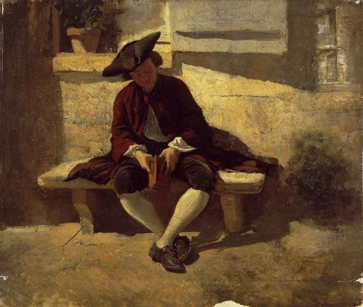 Young Man with a Book, 1860 - Ernest Meissonier