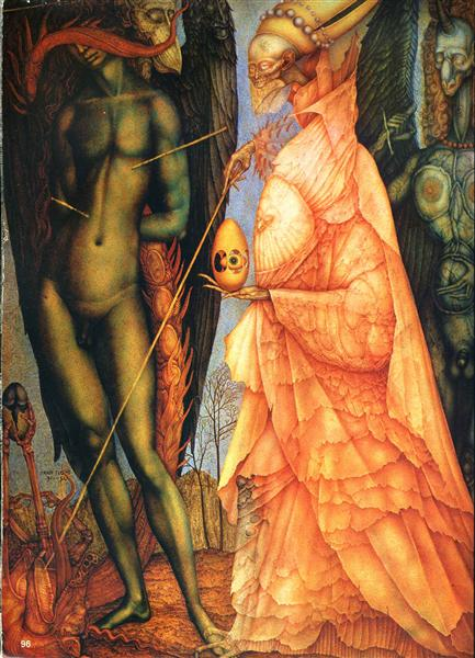 Battle of the gods that have been transformed, 1952 - Ernst Fuchs