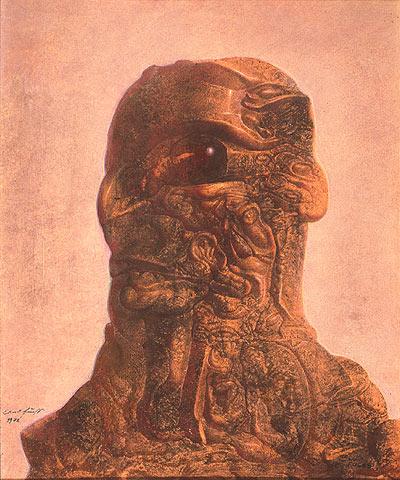 CHERUB WITH THE HEMATITE EYE, 1972 - Ernst Fuchs