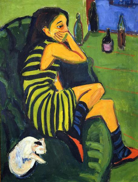 Female Artist, 1910 - 恩斯特‧路德維希‧克爾希納