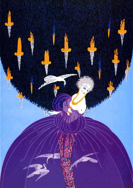 Freedom and Captivity - Erte