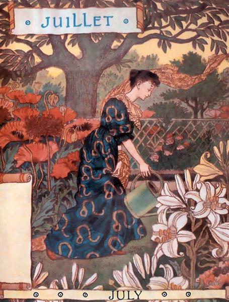 La Belle Jardiniere – July, 1896 - Eugène Grasset