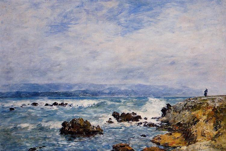 Antibes the point of the islet eugene boudin - Point p antibes ...