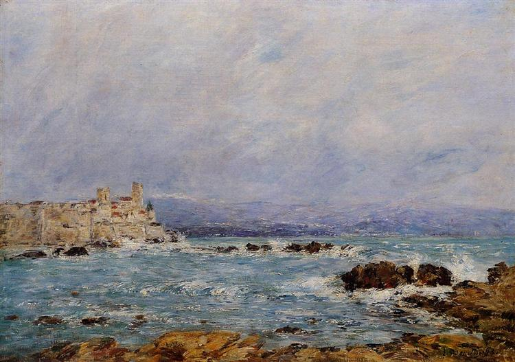 Antibes, the Rocks of the Islet - Eugène Boudin