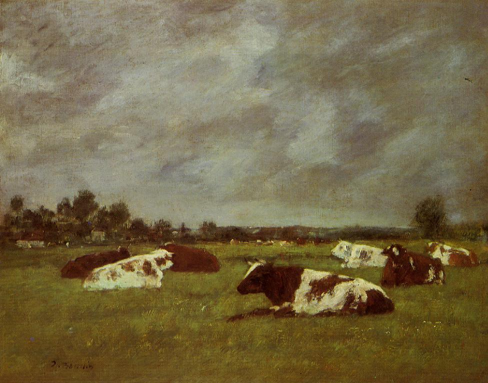 Cows in a Meadow, Morning Effect, 1882