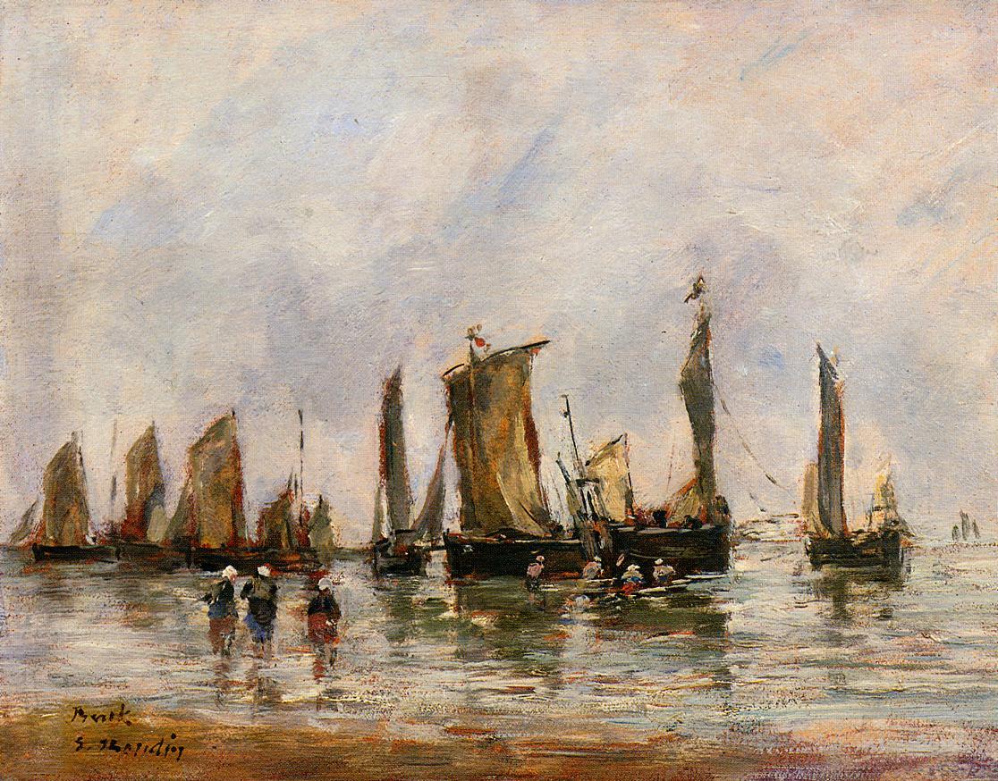 Fishing Boats at Berck, 1878