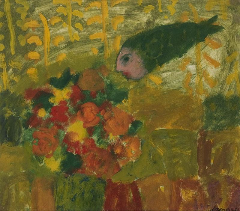 Vis boven bloemen, 1953