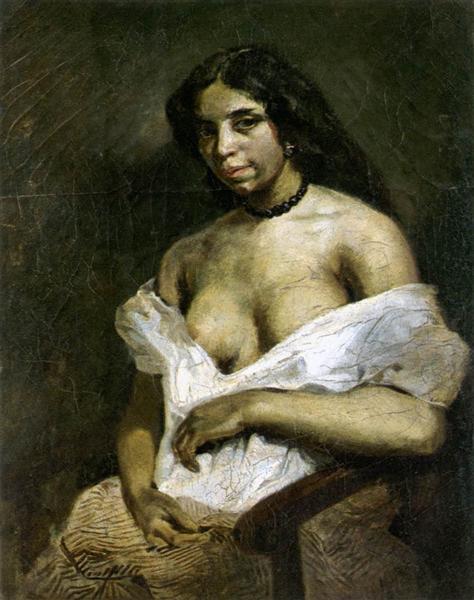 A Mulatto Woman, c.1821 - c.1824 - Eugene Delacroix