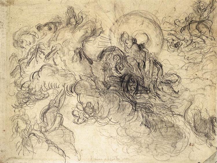 Apollo Slays Python, 1850 - Eugene Delacroix