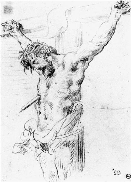 Christ on the Cross, 1839 - Eugene Delacroix