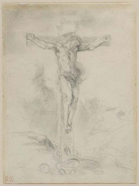 Christ on the Cross, 1853 - 1856 - Eugene Delacroix