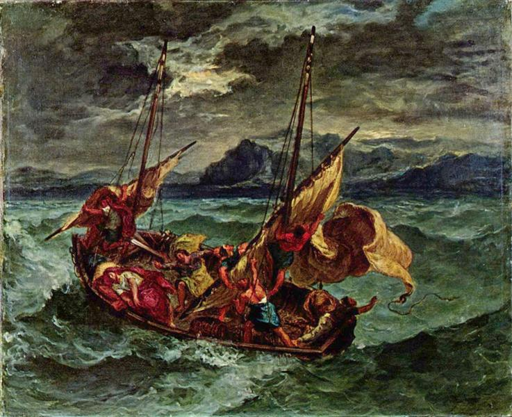 Christ on the sea of galilee 1854 eugene delacroix wikiart christ on the sea of galilee publicscrutiny