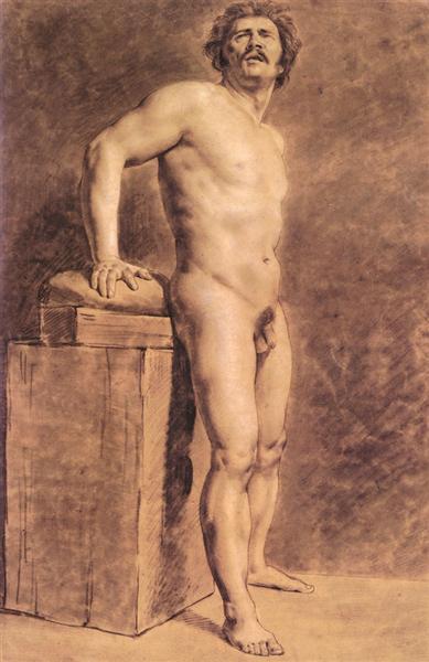 Male Academy Figure, 1821 - Eugene Delacroix