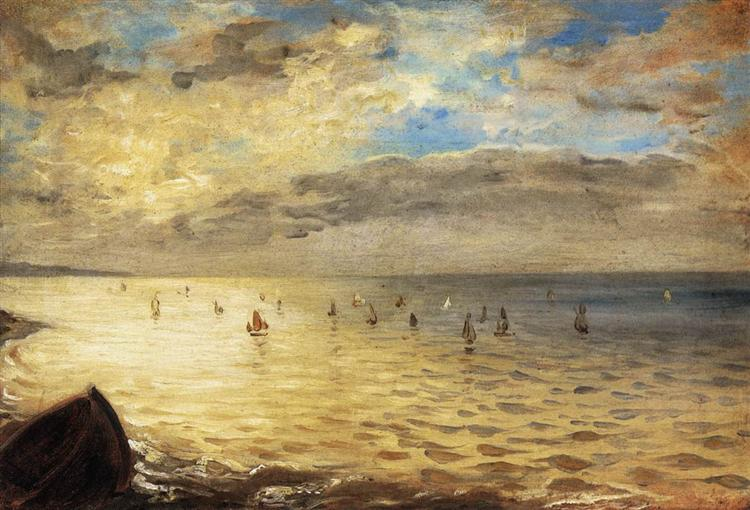 Sea Viewed from the Heights of Dieppe, 1852 - Eugene Delacroix