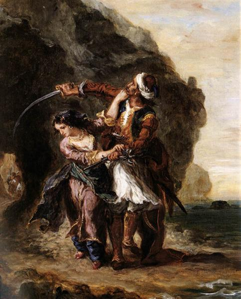 The Bride of Abydos, 1843 - Eugene Delacroix