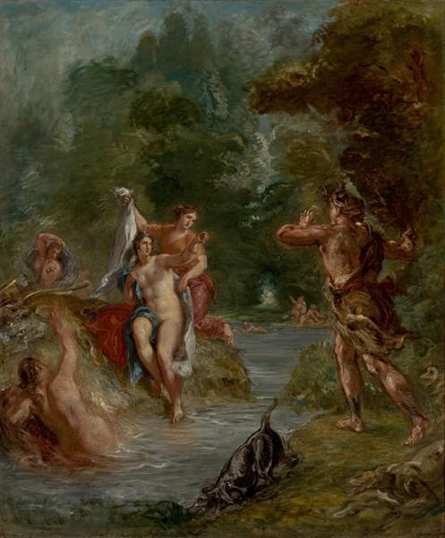 The Summer Diana Surprised by Actaeon, 1856 - 1863 - Eugene Delacroix