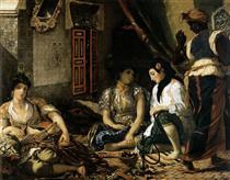 Le donne di Algeri nel loro appartamento - Eugene Delacroix