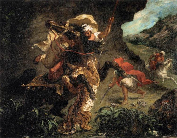Tiger Hunt, 1854 - Eugene Delacroix