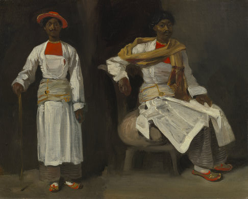 Two Views of an Indian from Calcutta, Seated and Standing, 1823 - 1824 - Eugene Delacroix
