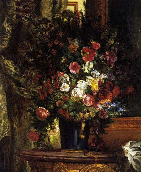 Vase of Flowers on a Console, 1848 - 1849 - Eugene Delacroix