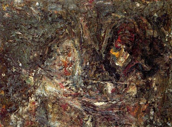 Two heads, 1989 - Eugene Leroy