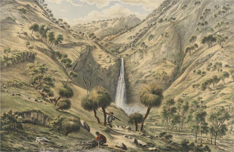 Fall of the First Creek, near Glen Osmond, South Australia, 1867 - Eugene von Guerard