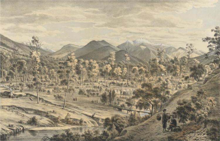 The valley of the Ovens River, 1867 - Eugene von Guerard