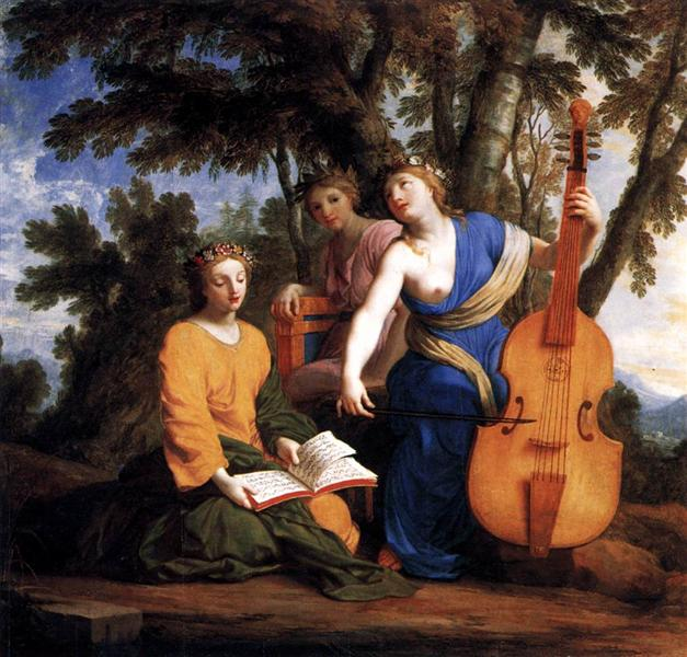 Melpomene, Erato and Polyhymnia, 1652 - 1655 - Есташ Льосюйор