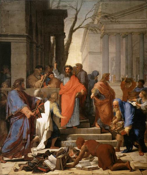 The Preaching of St. Paul at Ephesus, 1649 - Eustache Le Sueur