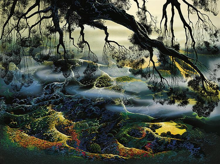 Fog Passes By Eyvind Earle Wikiart Org