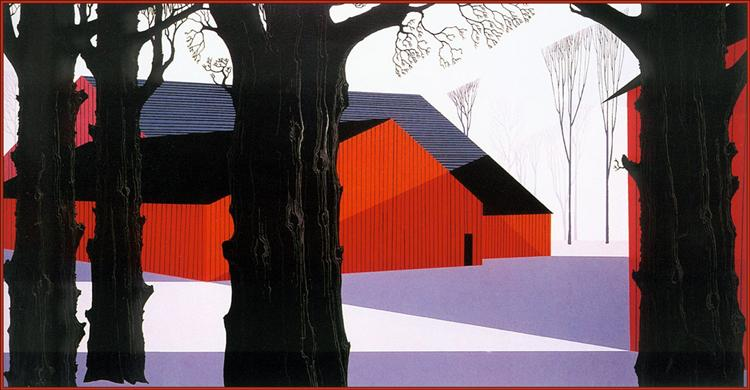 Red Barn, 1974 - Eyvind Earle