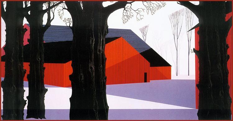 Red Barn, 1974 - Eyvind Earle