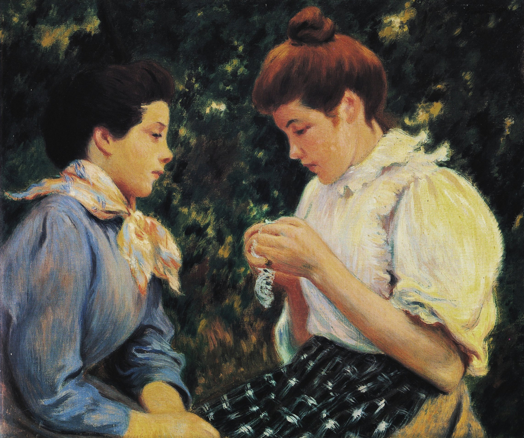 Crochet Lessons : Crochet lesson - Federico Zandomeneghi - WikiArt.org - encyclopedia of ...