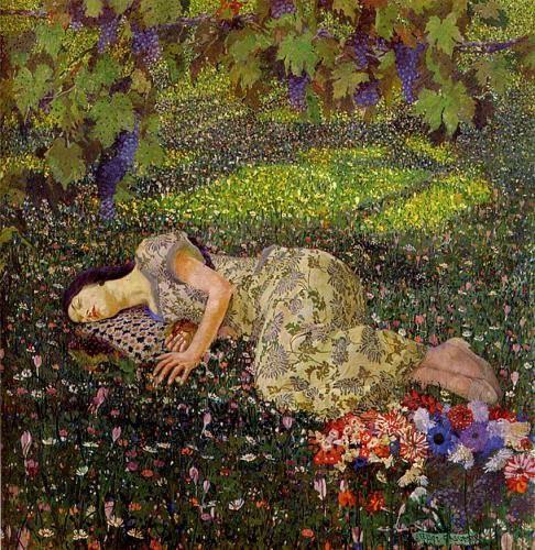 Dreaming of Pomegranates, 1913 - Felice Casorati