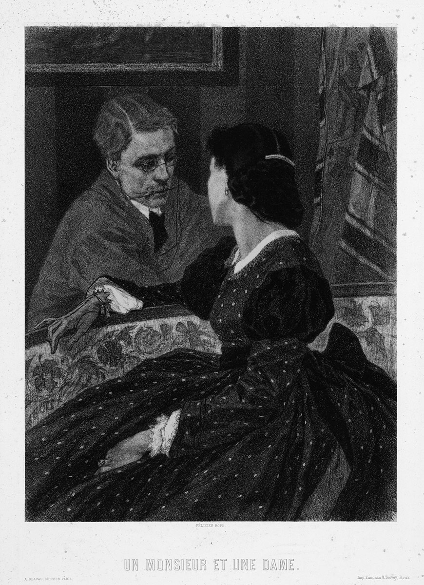 A Gentleman and a Lady (Aurelien Scholl and Marie Colombier), 1891