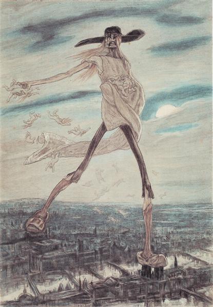 The Satanic. Satan Sowing Tares, 1882 - Félicien Rops