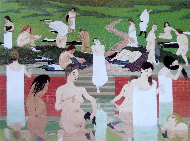 The Bath, Summer Evening, 1892 - Félix Vallotton