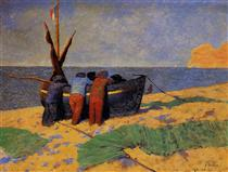 The Fourteenth of July at Etretat - Felix Vallotton
