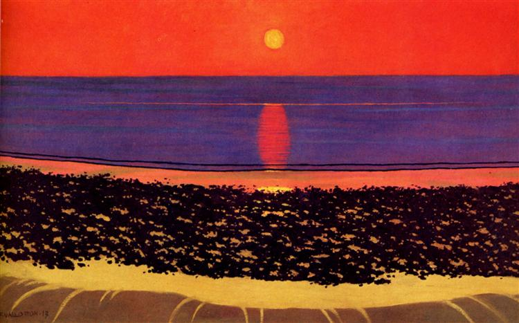 To lay down sun with Villerville, 1917 - Felix Vallotton